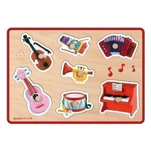 Пазл музыкальный Музыкальные инструменты, 7 элементов