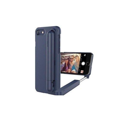 все цены на Чехол для iPhone 7, со встроенной селфи-палкой, синий онлайн