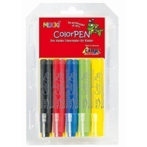 Фото - Набор детских ручек-маркеров Mucki, 5 цветов полесье набор игрушек для песочницы 468 цвет в ассортименте