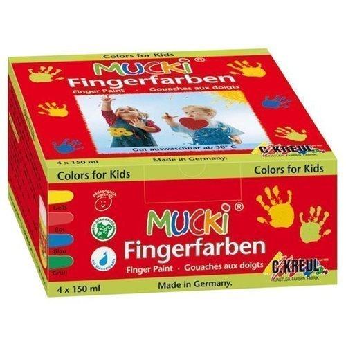 Набор пальчиковых красок Mucki 4 цвета centrum набор пальчиковых красок тролли 4 цвета 40 мл
