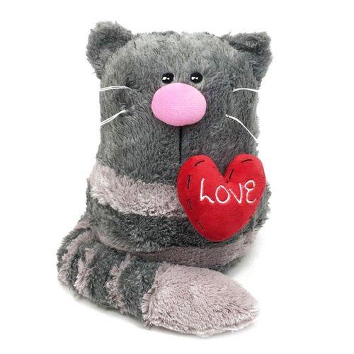 Мягкая игрушка Кот с сердцем, 23 см игрушка