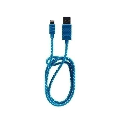 Кабель MFI c разъемом Apple 8 pin, синий
