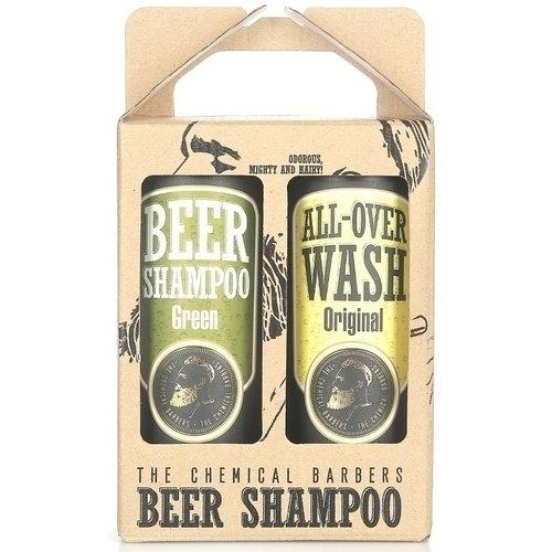 Набор подарочный Шампунь с мятой пивной и очищающее средство для лица и тела