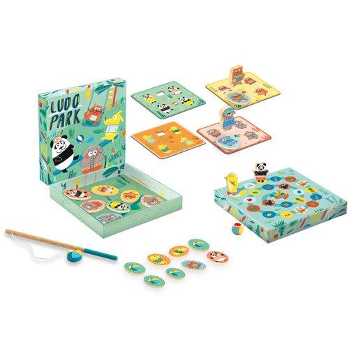 Купить Развивающая игра Людопарк 4 в 1 , Djeco, Развлекательные и развивающие игрушки