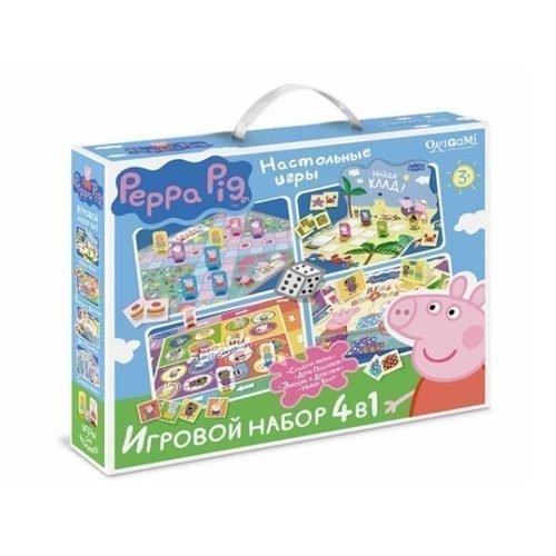 Купить Набор настольных игр 4 в 1 , Peppa Pig, Игры для детей