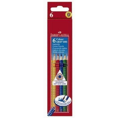 Карандаши цветные Grip 2001, 6 цветов цветные карандаши grip 2001 набор цветов в студийной кожзам коробке 36 шт