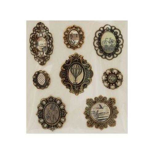 Набор 3D стикеров Медальоны Винтаж 2587-SB белоснежка набор 3d стикеров семейные праздники