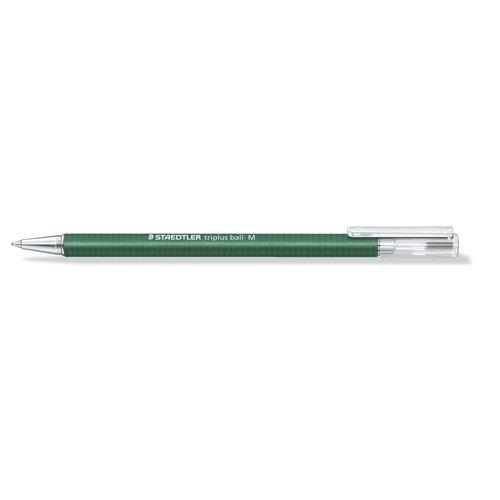 Шариковая ручка Triplus Ball М 0,45 зелёная шариковая ручка triplus ball черная 0 3 f