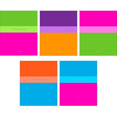 Тетрадь в клетку Игра цвета А5 тетрадь общая listoff офисный стиль игра цвета а4 96 листов в клетку