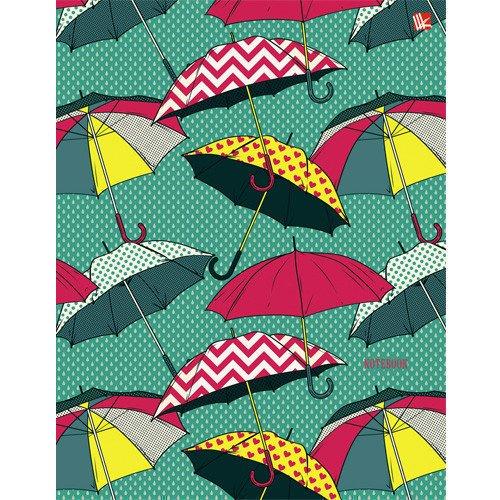 детские зонтики Записная книжка Разноцветные зонтики А5, 80 листов