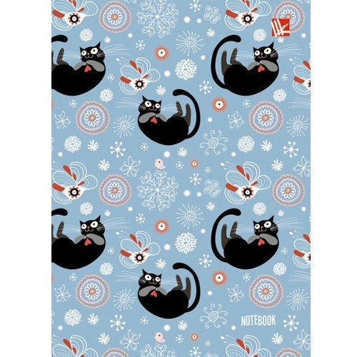 Фото - Книга для записей Черные котики А6 книга для записей 80 листов романтика кошки а6 кзф6801279