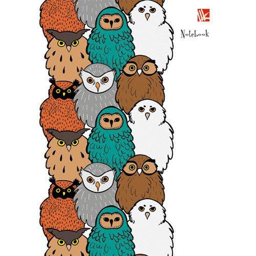 Фото - Книга для записей Милые совы А6 книга для записей 80 листов романтика кошки а6 кзф6801279