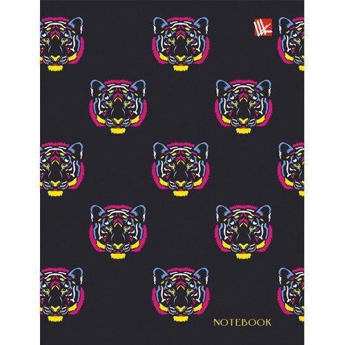 Фото - Книга для записей Разноцветные тигры А6 книга для записей 80 листов романтика кошки а6 кзф6801279