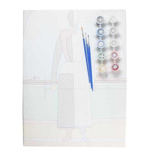 Фото - Рисование по номерам Малевич К. С. Женщина с граблями тетрадь малевич к с женщина с граблями а6 в точку