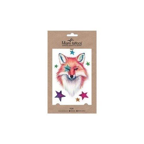 Татуировка переводная Fox цена