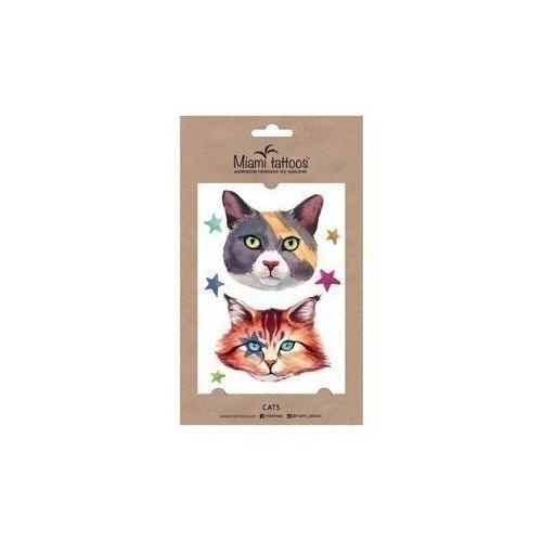 Татуировка переводная Cats цена
