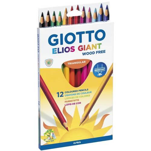 Карандаши цветные, 12 цветов giotto цветные акварельные карандаши giotto гексагональные 12 цветов