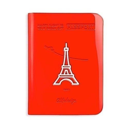 Обложка для паспорта Paris, красная цена