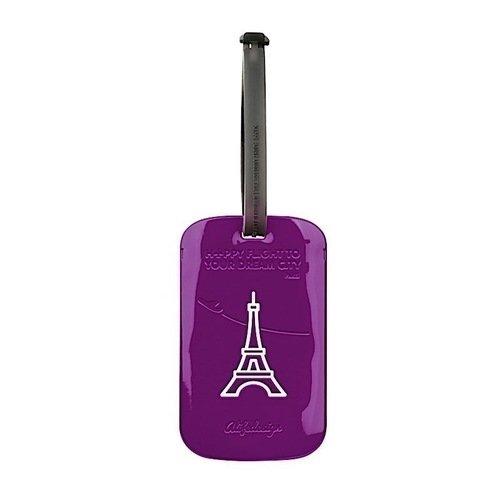 Бирка для багажа Paris, фиолетовая цена