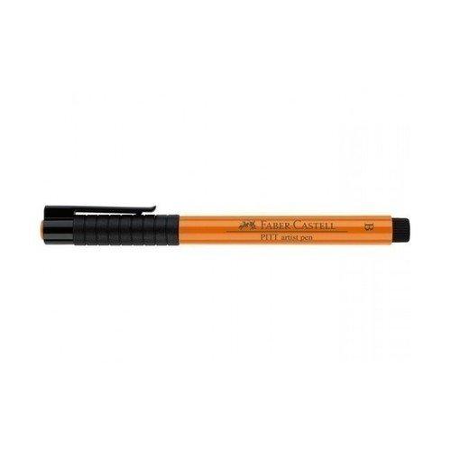 Капиллярная ручка Pitt Artist Pen Brush, оранжевая faber castell ручка капиллярная ecco pigment 0 7 мм цвет чернил черный