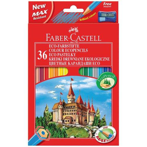 Карандаши цветные Eco Замок, 36 цветов карандаши цветные eco замок 48 цветов