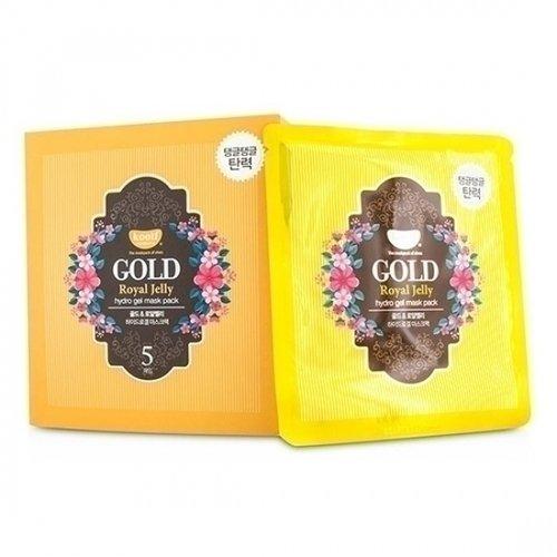 Гидрогелевая маска Золото и пчелиное маточное молочко тканевая маска для лица с натуральным экстрактом пчелиного маточного молочка ultra hydrating essence mask royal jelly 25 мл