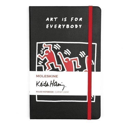 """Блокнот """"Keith Haring"""" Large, 120 листов, в линейку, черный цена и фото"""
