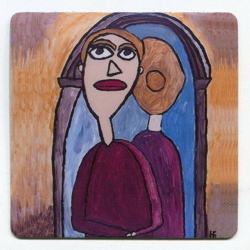 Магнит с рисунком Идиот. Настасья Филипповна у зеркала магнит зимнее волшебство исполненье желаний 8 х 8 см