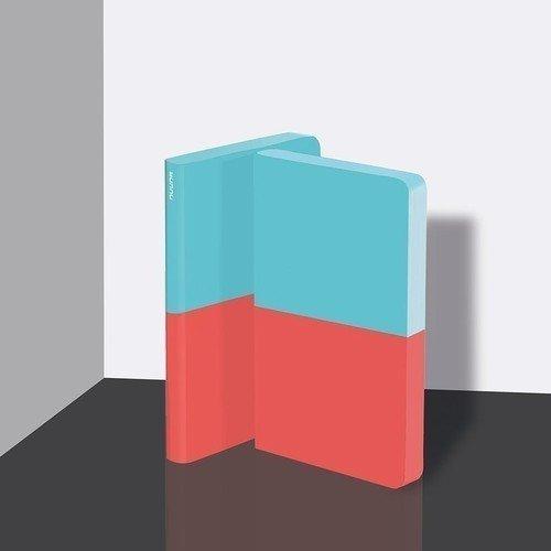 Блокнот А5, бирюзово-красный
