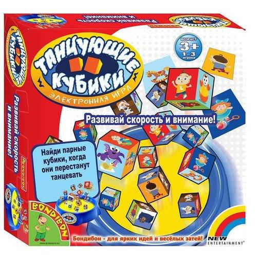 Купить Настольная игра Танцующие кубики , Bondibon, Игры для детей