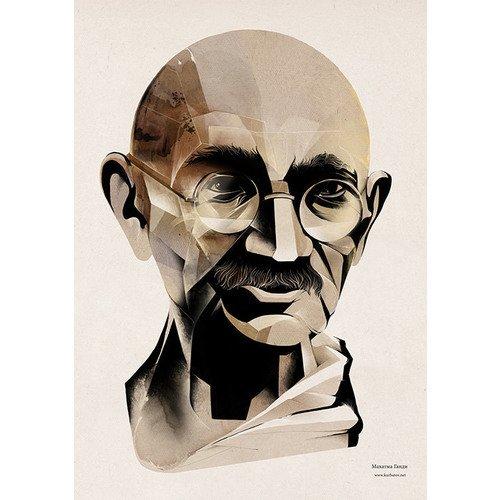 Принт Махатма Ганди А2 clique v 1