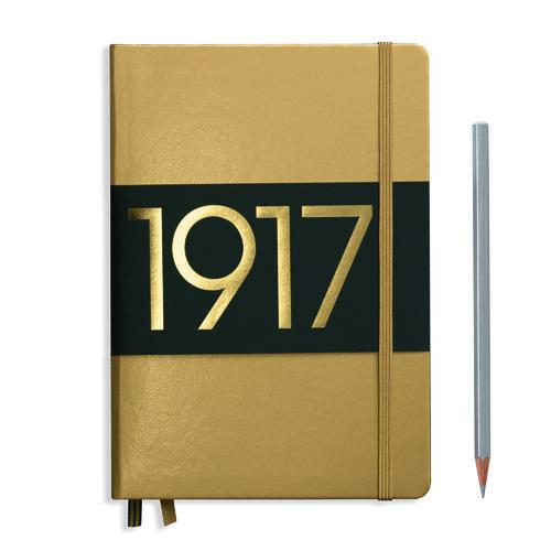 Блокнот нелинованный А5, 249 стр., золотой