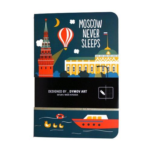 Тетрадь в точку Moscow Never Sleeps A5 тетрадь в линейку moscow never sleeps a5