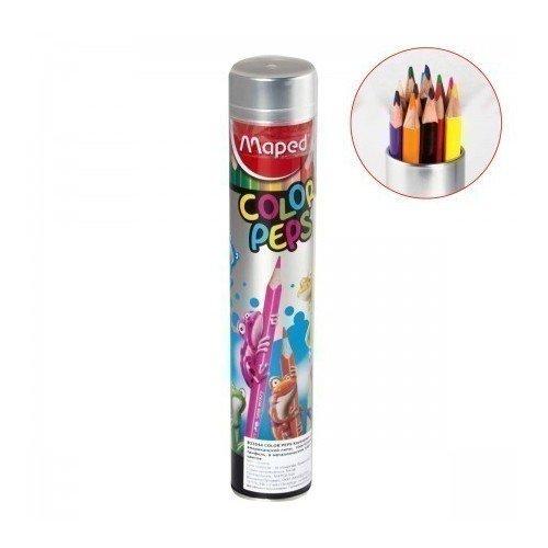 Карандаши цветные Color Peps, 12 цветов карандаши цветные maped color peps в металлическом футляре 12 цветов