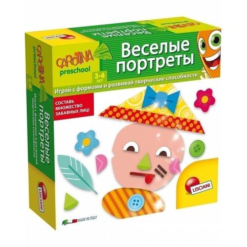 Обучающая игра Веселые портреты обучающая игра lisciani e54275 e54275