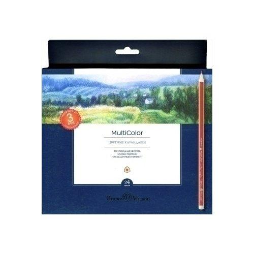 Набор карандашей Multicolor, 24 цвета пифагор набор карандашей восковых 24 цвета