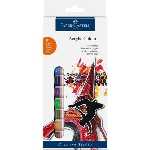 Краски акриловые, 12 цветов decola акриловые краски по ткани 12 цветов