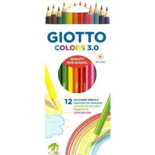 Карандаши цветные Giotto colors, 12 цветов giotto цветные акварельные карандаши giotto гексагональные 12 цветов