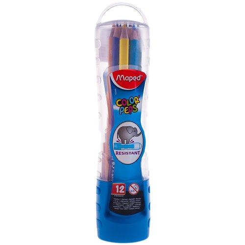 Карандаши цветные Color Peps, 12 цветов цветные карандаши maped color peps в металлической коробке 12 цветов