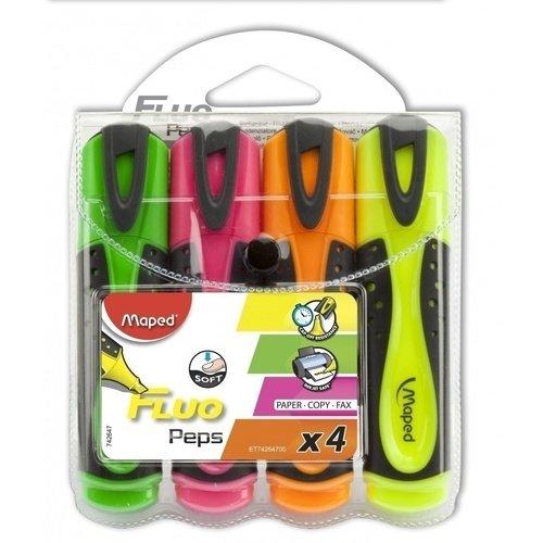 Набор текстовыделителей Fluo Pep's Soft, 4 цвета набор текстовыделителей silwerhof prime 4 цвета 108031 00