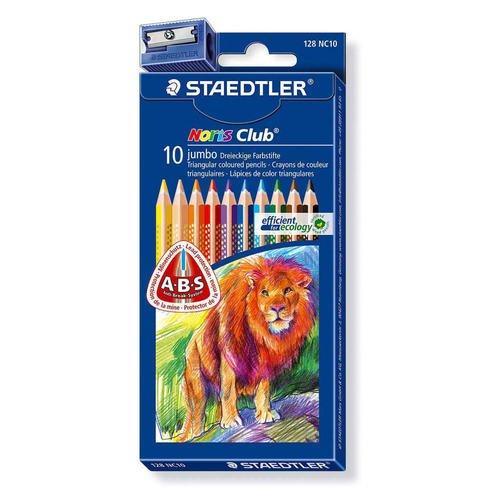 Карандаши цветные Noris Club, 10 цветов ручки и карандаши baramba треугольные в картонной коробке 13шт вкладыш раскраска