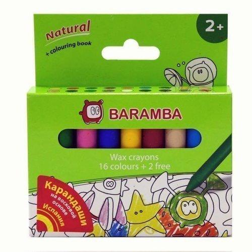 Набор восковых карандашей, 18 цветов набор восковых карандашей 24 цв круглые диаметр 8 мм