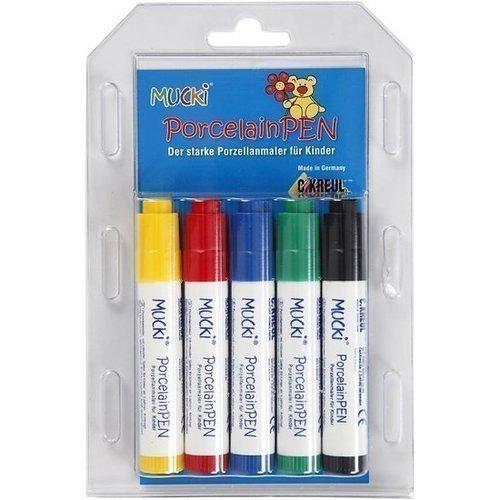 Фото - Набор детских ручек-маркеров Mucki PorcelainPen, 5 цветов набор маркеров с магнитом 5 цветов