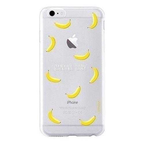 "Чехол-накладка ""Pet Town banana baby"" для iPhone 6/6s прозрачно-желтый цена"