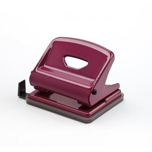 Дырокол F Medium пурпурный дырокол толщина прокола до 15 листов с линейкой пластиковый корпус ассорти