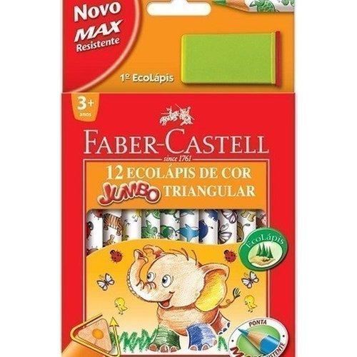 Карандаши цветные с точилкой Jumbo Triangular, 12 цветов карандаши цветные 12 цветов мonster high длинные в металлическом тубксе с точилкой 85046