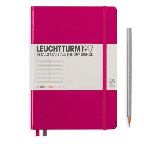Блокнот Medium, 125 листов, в линейку, розовый