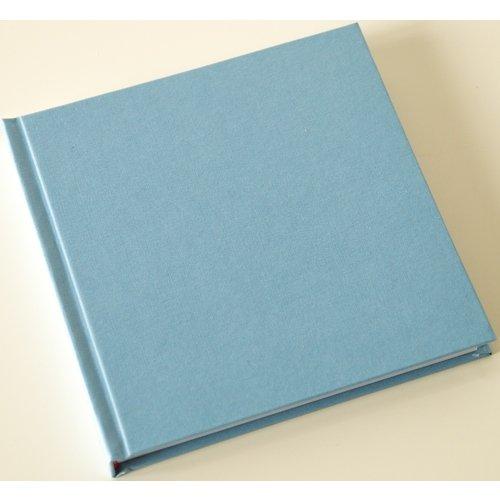 Скетчбук, 80 листов, 120 г/м2, 15 х 15 см, сине-голубой