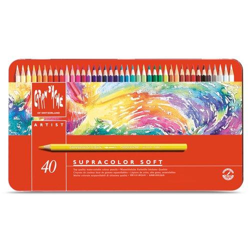 Набор акварельных карандашей Supracolor, 40 цветов набор карандашей акварельных mondeluz 24 цв