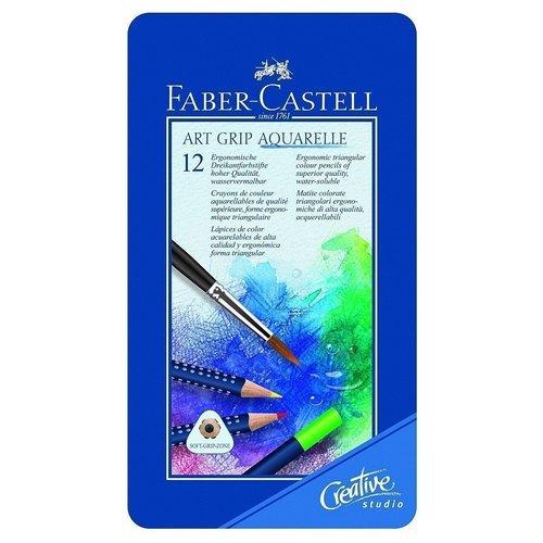 Набор акварельных карандашей Art Grip Aquarelle, 12 цветов карандаши цветные акварельные faber castell art grip aquarelle 114212 12цв мет кор